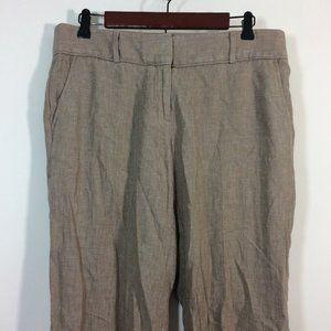 LOFT Pants Size 6 Brown Linen Blend MARISA Trouser